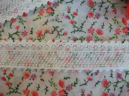 FC193 Traditional White Nottingham Valenciennes Cotton Lace -  Cluny Lace Co